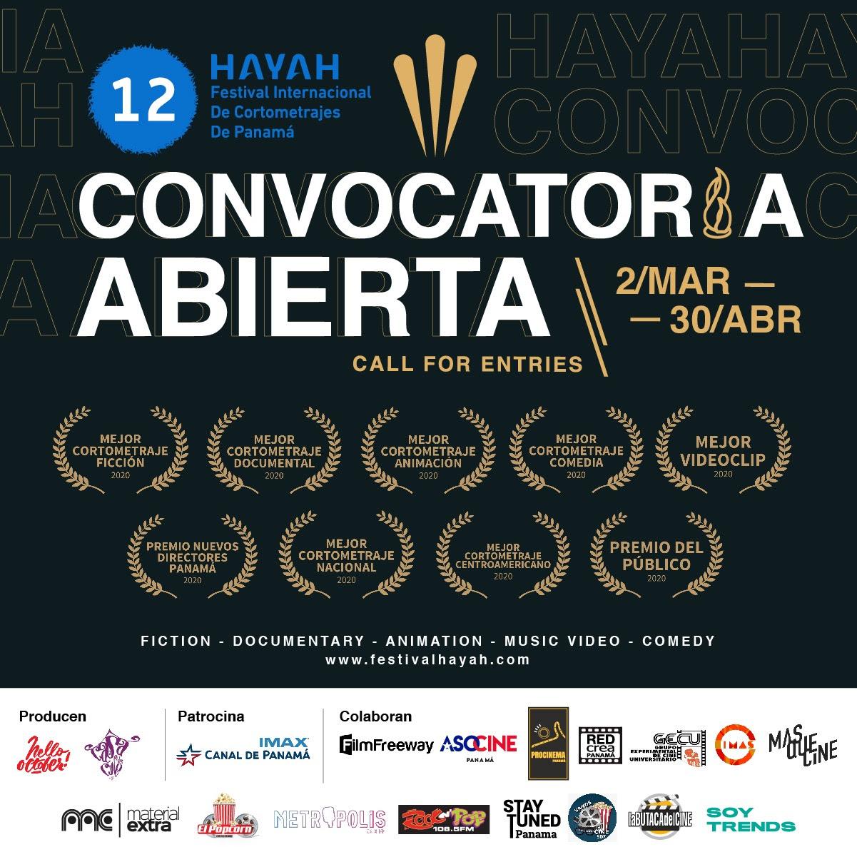 12vo Hayah Festival Internacional de Cortometrajes de Panamá.