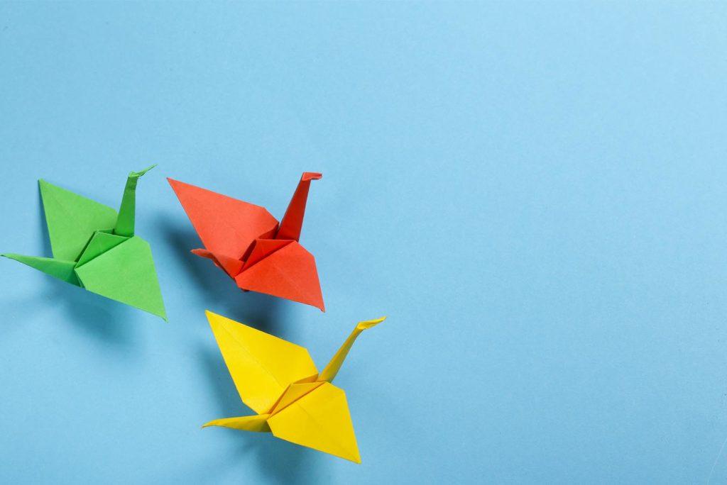 El arte del Origami y la leyenda de las 1000 grullas.