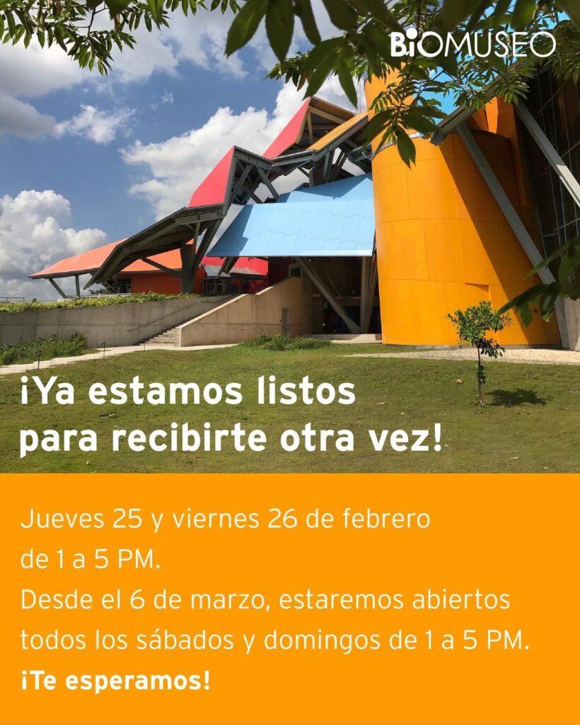 El Biomuseo anuncia nueva fecha de reapertura